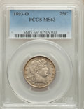 1893-O 25C MS63 PCGS. PCGS Population: (52/86). NGC Census: (25/54). CDN: $400 Whsle. Bid for NGC/PCGS MS63. Mintage 3,3...