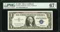 Small Size:Silver Certificates, Fr. 1619 $1 1957 Silver Certificate. PMG Superb Gem Unc 67 EPQ.. ...