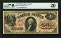 Large Size:Legal Tender Notes, Fr. 20 $1 1875 Legal Tender PMG Very Fine 20.. ...