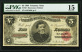 Large Size:Treasury Notes, Fr. 361 $5 1890 Treasury Note PMG Choice Fine 15.. ...