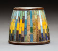 Glass, Tiffany Studios Mosaic Favrile Glass and Patinated Bronze Pen Wiper, circa 1902. Marks: (CDTCO cipher), TIFFANY ...