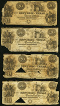 Austin, TX- Republic of Texas $20 1839-40 Cr. A6 Medlar 26 Nine Examples About Good or Better. ... (Total: 9 notes)