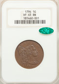 1794 1C Head of 1794, S-29, B-11, R.2, XF45 NGC. CAC....(PCGS# 35552)