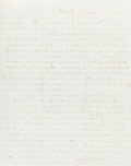Books:Religion & Theology, [Mormon Church]. Parley P. Pratt (1807-1957, author and member of the Quorum of the Twelve Apostles). Autograph Letter, Signe...