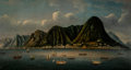 Paintings, A China Trade Painting of Hong Kong Harbor, mid-19th century. 20-3/4 x 39-1/2 inches (52.7 x 100.3 cm) (work). ...