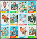 Football Cards:Sets, 1968 Topps Football Shoebox Collection (260). ...