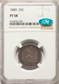 1880 25C PR58 NGC. CAC. NGC Census: (1/273). PCGS Population: (2/355). Mintage 1,355. From The Spring Creek Collecti...(...