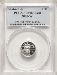 2005-W $10 Tenth-Ounce Platinum PR69 Deep Cameo PCGS. PCGS Population: (928/147). NGC Census: (309/661). CDN: $117.69.Wh...