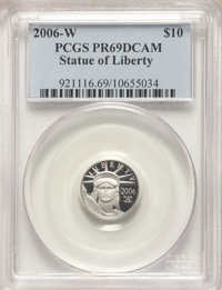 2006-W $10 Platinum Tenth-Ounce PR69 Deep Cameo PCGS. PCGS Population: (1365/290). NGC Census: (689/1496). CDN: $117.69...