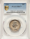 1941 25C PR67+ PCGS. PCGS Population: (203/7 and 30/0+). NGC Census: (243/26 and 3/0+). CDN: $175 Whsle. Bid for NGC/PCG...