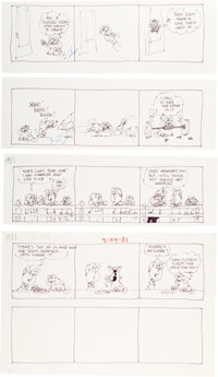 Jim Davis Garfield Daily Comic Strip Preliminary Original Art Group of 160 (United Feature Syndicate, 1981)