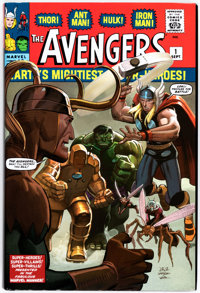The Avengers Omnibus Vol. 1 Autographed Copy (Marvel, 2011) Condition: NM-.... (Total: 2 Items)