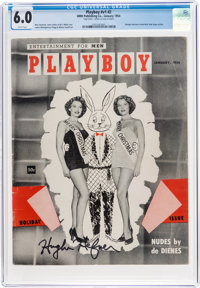 Playboy #2 Signed by Hugh Hefner (HMH Publishing, 1954) CGC FN 6.0 White pages