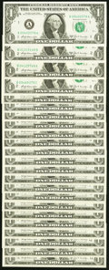 """Small Size:Federal Reserve Notes, Complete District Regular Block Set ending in """"9"""" Fr. 1905-A; B (4); C (2); D; E (2); F (2); G (3); H; I; J; K (2); L (3) $1 1... (Total: 23 notes)"""
