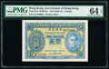 World Currency, Hong Kong Government of Hong Kong 1 Dollar ND (1940-41) Pick 316 KNB13a PMG Choice Uncirculated 64 EPQ.. ...