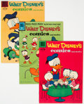 Golden Age (1938-1955):Cartoon Character, Walt Disney's Comics and Stories Group of 8 (Dell, 1956-61) Condition: Average VF+.... (Total: 8 )