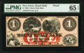 Mount Holly, NJ- Mount Holly Bank $1 18__ G2a Wait 1324 Proof PMG Gem Uncirculated 65 EPQ