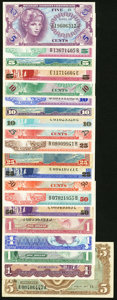 Military Payment Certificates:Series 641, MPC Series 641-692 No Duplication Fine or Better.. Series 641 5¢; 10¢; 25¢; 50¢; $1. Series 651 $1; $5, with an approx... (Total: 20 notes)