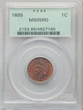 1885 1C MS65 Red PCGS. PCGS Population: (70/18). NGC Census: (20/2). CDN: $1,100 Whsle. Bid for NGC/PCGS MS65. Mintage 1...