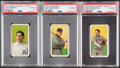 Baseball Cards:Lots, 1909-11 T206 Polar Bear and Sweet Caporal PSA Graded Trio (3)....