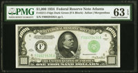 Fr. 2211-F $1,000 1934 Federal Reserve Note. PMG Choice Uncirculated 63 EPQ