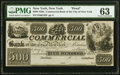 Obsoletes By State:New York, New York, NY- Commercial Bank of the City of New York $500 18__ G26 Proof PMG Choice Uncirculated 63.. ...