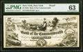 New York, NY- Bank of the Commonwealth $5 185_ as G8 Proof PMG Choice Uncirculated 63