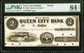 Buffalo, NY- Queen City Bank $2 18__ G4 Proof PMG Choice Uncirculated 64 EPQ