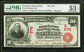 Newton, NJ - $10 1902 Red Seal Fr. 613 The Merchants National Bank Ch. # (E)876 PMG About Uncirculated