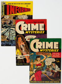 Golden Age Crime Comics Group of 7 (Various Publishers, 1948-54).... (Total: 7 Comic Books)