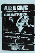 "Music Memorabilia:Posters, Alice in Chains/Gruntruck 11"" x 17"" Gallatin County Fairgrounds Concert Poster Signed by Designer Jeff Kleinsmith (circa early..."