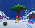 Animation Art:Production Cel, Dr. Seuss' How The Grinch Stole Christmas Grinch with Christmas Tree Production Cel Setup (MGM, 1966)....