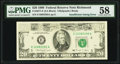 Insufficient Inking Error Fr. 2077-E $20 1990 Federal Reserve Note. PMG Choice About Unc 58