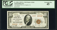 Los Angeles, CA - $10 1929 Ty. 2 The Seaboard National Bank Ch. # 12545 PCGS Extremely Fine 45