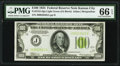Small Size:Federal Reserve Notes, Fr. 2152-J $100 1934 Light Green Seal Federal Reserve Note. PMG Gem Uncirculated 66 EPQ.. ...