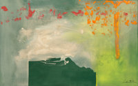 Helen Frankenthaler (1928-2011) Leprechaun, 1991 Acrylic on canvas 34-1/2 x 57-1/2 inches (87.6 x