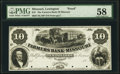 Obsoletes By State:Missouri, Lexington, MO- Farmers Bank of Missouri $10 18__ Haxby Unlisted Proof PMG Choice About Unc 58, POCs.. ...