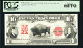 BEP 1901 $10 American Buffalo Coin & Currency Set Reprint PCGS Gem New 66PPQ