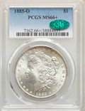1885-O $1 MS66+ PCGS. CAC. PCGS Population: (2892/357). NGC Census: (4717/578). CDN: $180 Whsle. Bid for NGC/PCGS MS66...