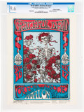 "Music Memorabilia:Posters, Grateful Dead 1966 ""Skeleton & Roses"" Handbill FD-26 Graded Mint 9.6 and Signed by Stanley Mouse...."