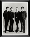 Music Memorabilia:Memorabilia, The Beatles Early Black and White Publicity Photo In Frame...
