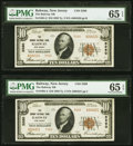 Rahway, NJ - $10 1929 Ty. 2, Two Consecutive Examples The Rahway National Bank Ch. # 5260 PMG Gem Uncir... (Total: 2)