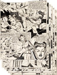 """Al Bryant Champ Comics #23 Complete 8-Page Story """"Conditions In Army Camp Appalling!"""" Original Art (Harvey, 19..."""