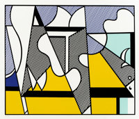 Roy Lichtenstein (1923-1997) Cow Triptych: Cow Going Abstract, 1982 Screenprint in colors on smooth ... (Total: 3)