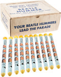 "Music Memorabilia:Memorabilia, The Beatles Lot of Ten ""Beatle Hummer"" Kazoos Plus Display Box, 1964 (UK). ..."