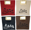 Music Memorabilia:Memorabilia, The Beatles Vinyl Square Hand Bags Set of Four. Red, White, Blue and Brown. (4) By Dame-1964). ... (Total: 4 Items)