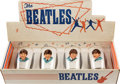 Music Memorabilia:Memorabilia, The Beatles Set of Four Original Drinking Glasses in Display Box (4) (UK, 1964).... (Total: 5 Items)