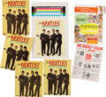 Music Memorabilia:Memorabilia, The Beatles Official Coloring Books (4) With Full Color Uncut Layout (Saalfield, circa mid-1960s). ...