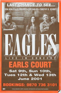 The Eagles Earls Court Concert Poster (2001)