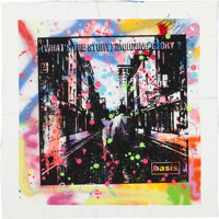 Oasis What's the Story Morning Glory? Mixed Media Artwork Signed by the Gallagher Brothers a